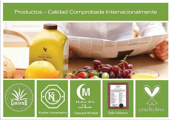 Forever Living, Certificados internacionales a la calidad y pureza de los productos forever living